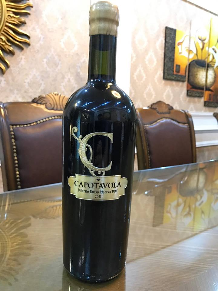 Rượu vang Ý Capotavola - Chữ C, Biferno Rosso Riserva DOC