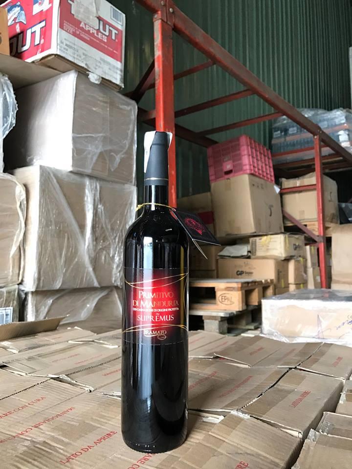 Rượu vang Ý PRIMITIVO DI MANDURIA SUPREMUS 18 độ