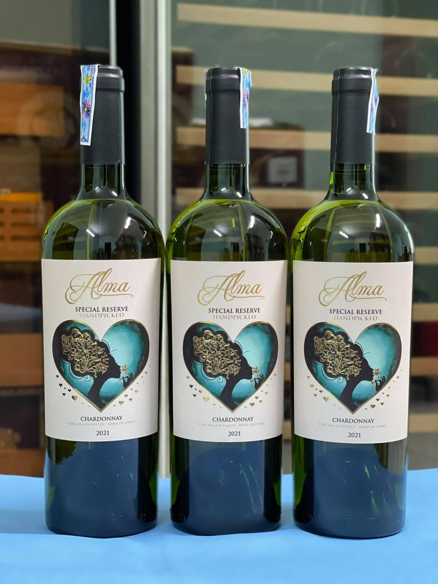 Rượu vang Chile Alma Special Reserva Handpicked Chardonnay