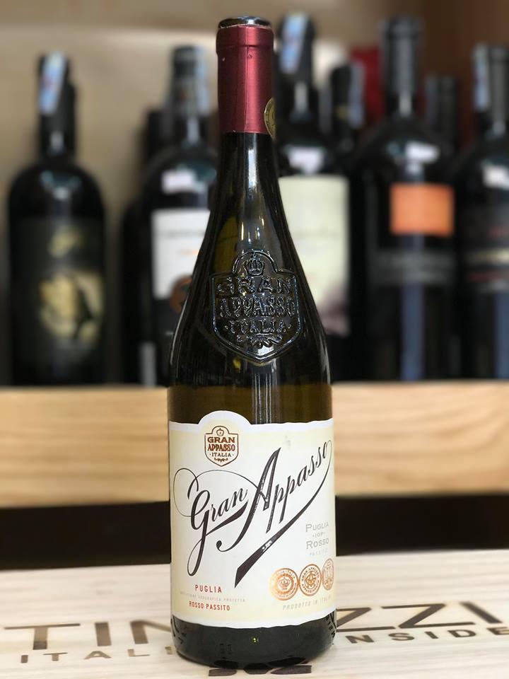 Rượu Vang Ý Cao cấp Gran Appasso Edizione 98 điểm - Rosso Passito- Puglia