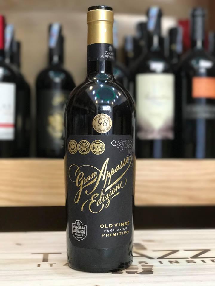 Rượu Vang Ý 16 độ Siêu cấp Gran Appasso Edizione Old Wine 98 điểm - Primitivo Appassimento - Puglia