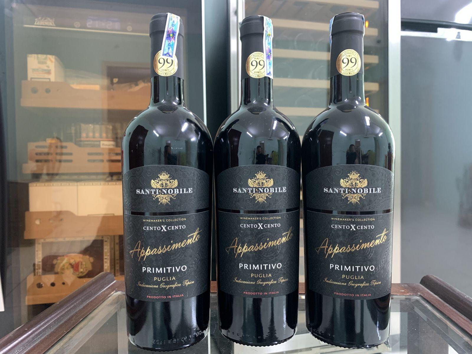 Rượu vang Ý Santi Noble Cento X Cento Appassimento Primitivo 2015