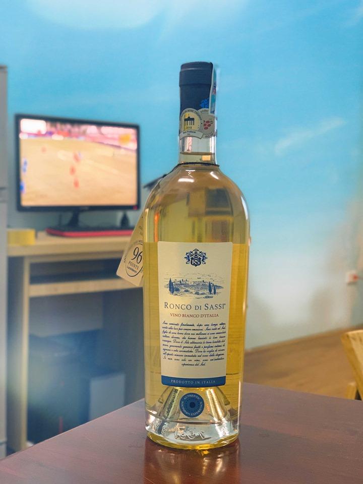 Rượu vang Ý Ronco Di Sassi Bianco 98 điểm - Vang Trắng