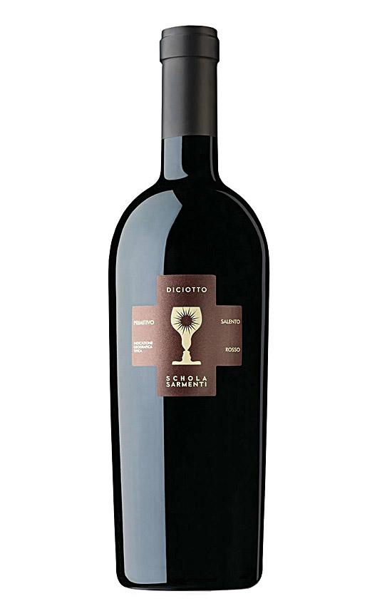 Rượu vang Ý Chén Thánh Diciotto-Primitivo